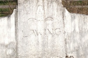 Nellie Lawing's gravestone in Seward
