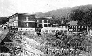 The opulent Curry Hotel on the Alaska Railroad opened in 1923.