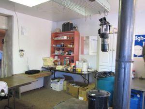 Back corner of the kitchen area