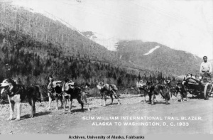 Slim Williams and his team near Hazelton, British Columbia