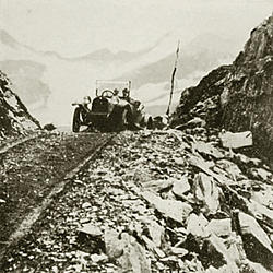 Crossing Thompson Pass on the Valdez-Fairbanks Road