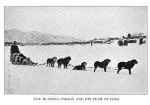 The Mushing Parson and his team