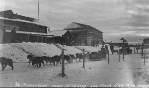3/4 million in gold from Iditarod at Knik, January 12, 1912.