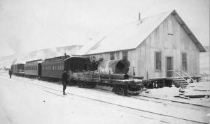Tanana Valley Railroad at Chatanika Station, 1916