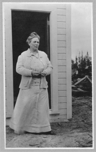 Mother Martha White standing in doorway, no date. [Frank and Frances Carpenter collection (Library of Congress)]