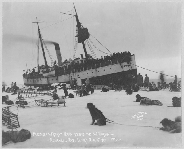 Unloading Passegers at Nome 1914