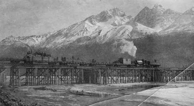 Matanuska River Bridge train