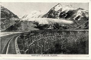 Bartlett Glacier postcard b:w