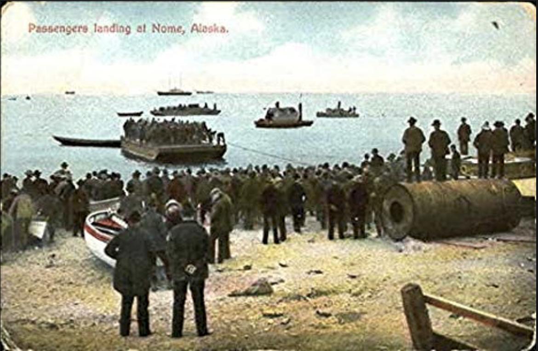 Nome passengers landing